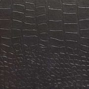 Crocodile-embossed leather in black