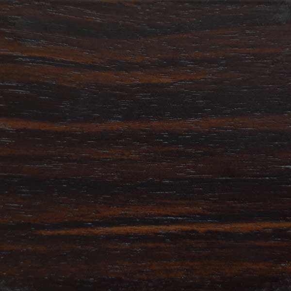 Ebony veneer in natural finish