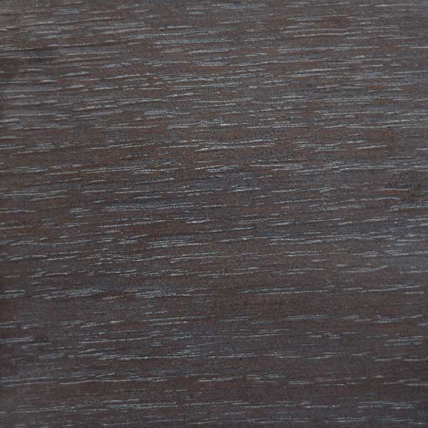 Quarter cut oak in cerused storm gray