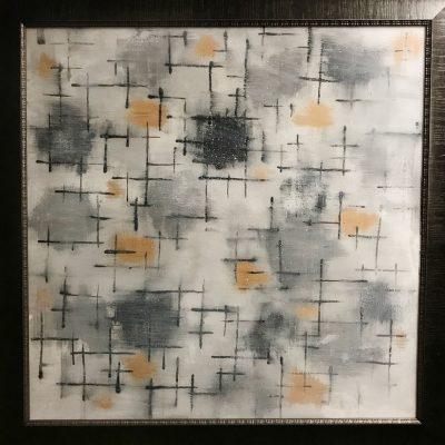 Memories    Reverse painted glass, 55x55