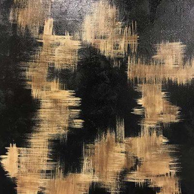 Monogram - Mixed Media on Canvas, 48x60